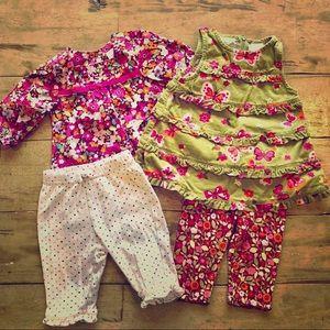 4️⃣ PIECE Baby Girls Set!!! 3-6 Months! 💕